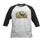 Collie antique label Kids Baseball Jersey