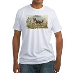 Collie antique label Fitted T-Shirt