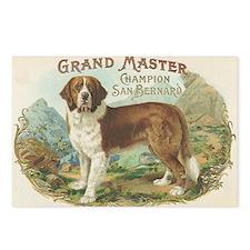 St Bernard antique label Postcards (Package of 8)