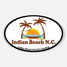 Indian Beach NC - Palm Trees Design Decal