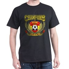Spain 2010 World Soccer Champions Black T-Shirt