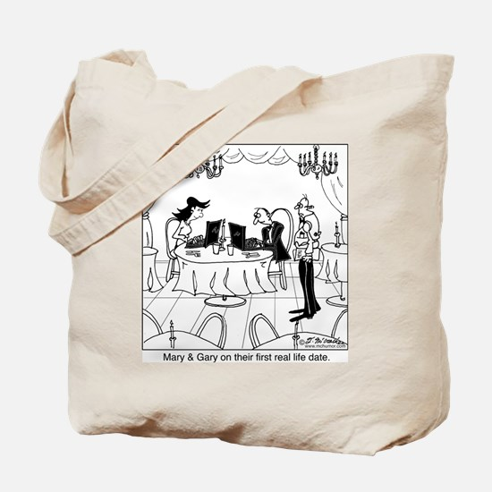 Mary & Gary on their first real life date Tote Bag
