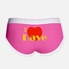 I Love Dave Women's Boy Brief
