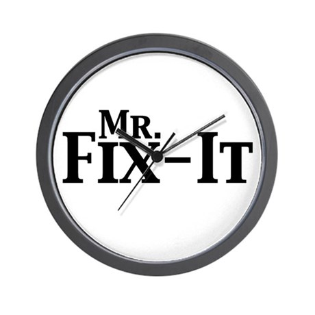 Mr. Fix-It Wall Clock by worldsfair2