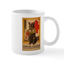Red Cross Dog Poster Mug