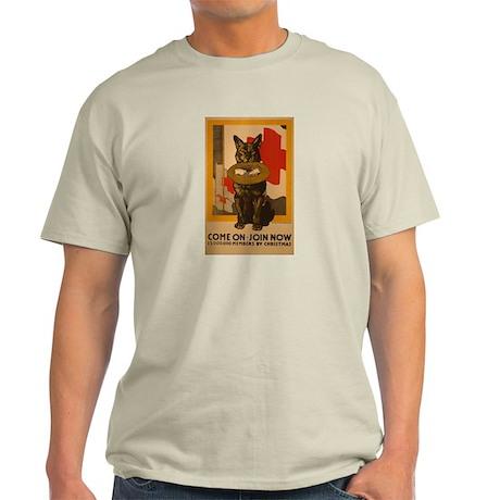Red Cross Dog Poster Light T-Shirt