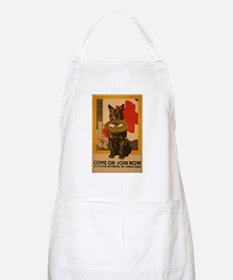Red Cross Dog Poster Apron
