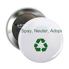"""Spay. Neuter, Adopt-2.25"""" Button (10 pack)"""