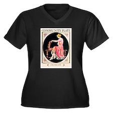 Funny Alphonse mucha Women's Plus Size V-Neck Dark T-Shirt