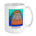 Phones at Technical Support Large Mug