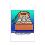 Phones at Technical Support Mini Poster Print