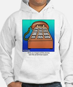 Phones at Technical Support Hoodie