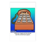 Phones at Technical Support Postcards (Package of