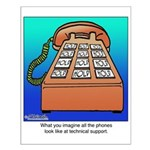 Phones at Technical Support Small Poster