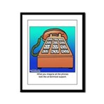 Phones at Technical Support Framed Panel Print