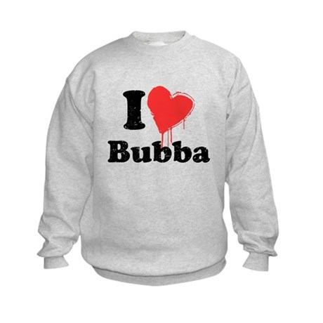 I heart bubba Kids Sweatshirt