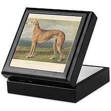 Greyhound Dog antique print Keepsake Box