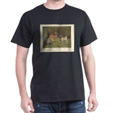 Three Dogs antique print T-Shirt