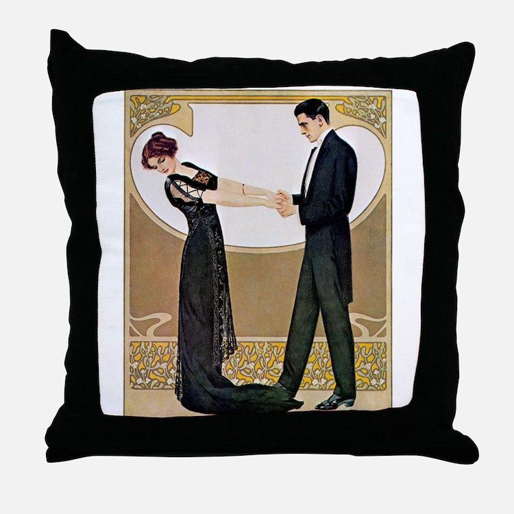 Cute 1920s Throw Pillow