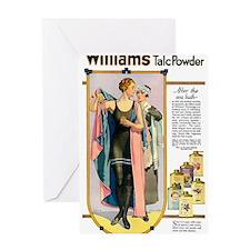 WILLIAM'S TALC POWDER, N.D Greeting Cards