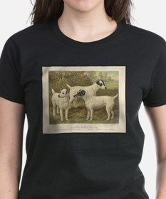 Fox Terriers antique print Tee