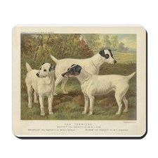 Fox Terriers antique print Mousepad