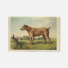 Cute Irish Terrier print Rectangle Magnet