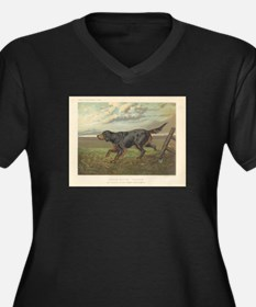 Hunting Dog antique print Women's Plus Size V-Neck