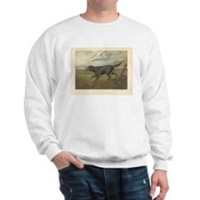 Hunting Dog antique print Sweatshirt