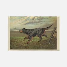 Hunting Dog antique print Rectangle Magnet