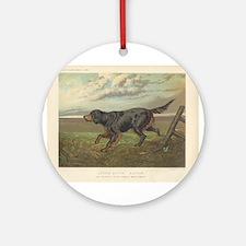 Hunting Dog antique print Ornament (Round)