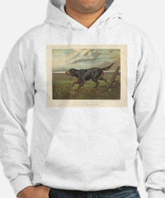 Hunting Dog antique print Hoodie