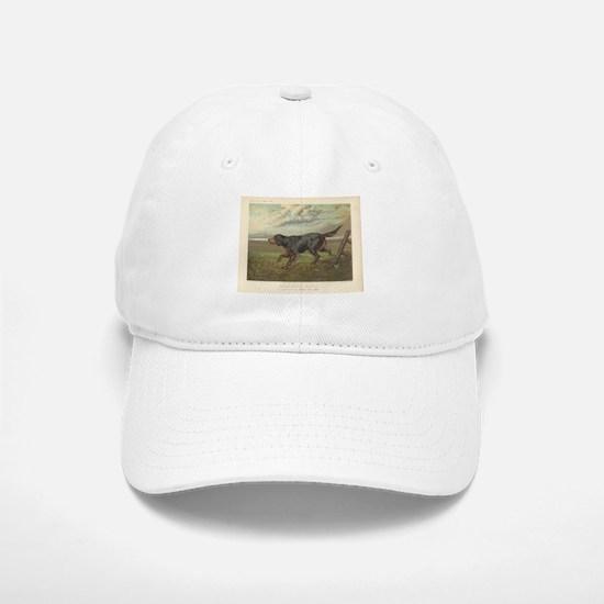 Hunting Dog antique print Cap