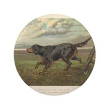 """Hunting Dog antique print 3.5"""" Button (100 pack)"""