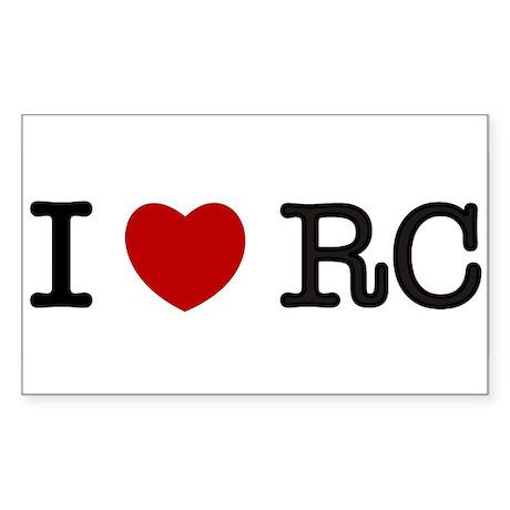 I Heart RC Sticker (Rectangle)