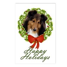 Sheltie #1 Xmas Postcards (Package of 8)