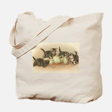 Kittens and Tea Cups 2 Tote Bag