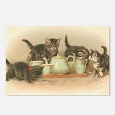 Kittens and Tea Cups 2 Postcards (Package of 8)
