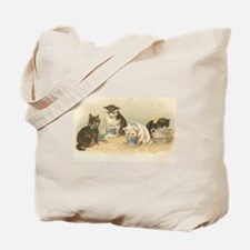 Kittens and Tea Cups 1 Tote Bag