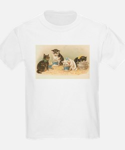 Kittens and Tea Cups 1 T-Shirt