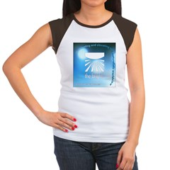Logo with URL and tagline 4 Women's Cap Sleeve T-S