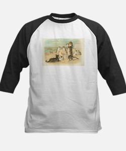 Kitties on the Beach Kids Baseball Jersey