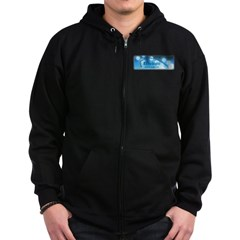 Logo with URL and tagline 2 Zip Hoodie (dark)