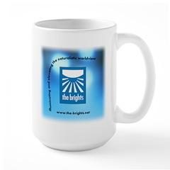Logo with URL and tagline 3 Large Mug