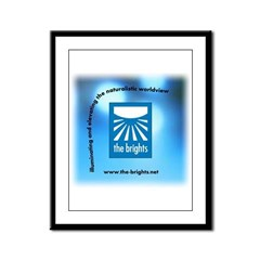 Logo with URL and tagline 3 Framed Panel Print