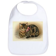 Grey Tabby Victorian Cat Bib