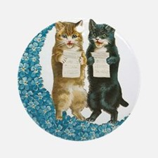 Blue Moon Singing Cats Ornament (Round)