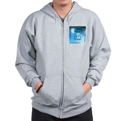 Logo with URL and tagline Zip Hoodie