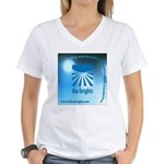 Logo with URL and tagline Women's V-Neck T-Shirt
