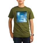 Logo with URL and tagline Organic Men's T-Shirt (d